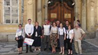 Delegation of the beneficiary group from Serbia in front of Serbian Embassy in Prague